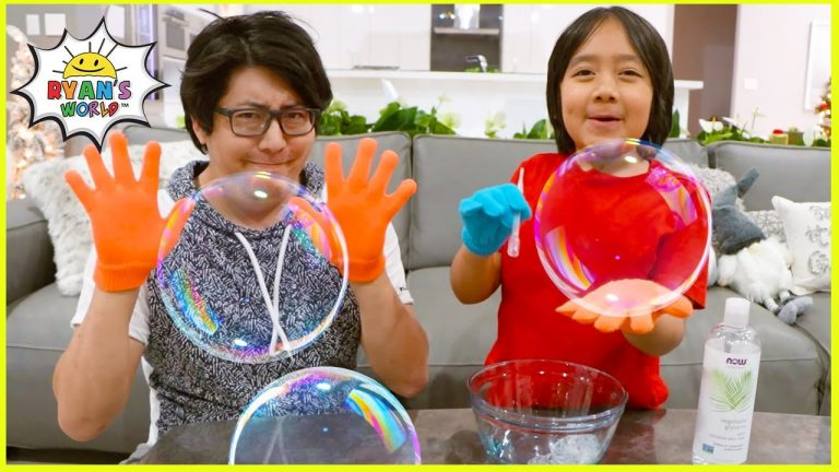 DIY Giant Bubbles with 1 hr TOP easy DIY kids science experiments to do at home!! 1