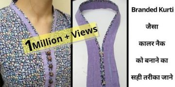 Easy V Collar Neck With Placket and Buttons || Full Tutorial@RR Fashion Point 8