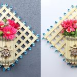 How to make a beautiful wall hanging with popsicle sticks | home decoration ideas