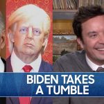 Biden Takes a Tumble, Trump's Wax Statue Takes a Punch   The Tonight Show Starring Jimmy Fallon