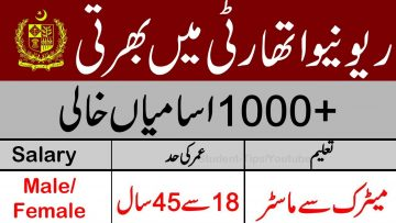 New jobs in Revenue department , New career opportunities