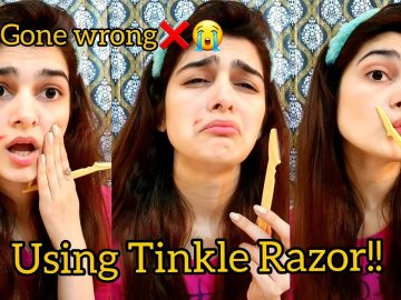 Using Tinkle Razor | GONE WRONG❌😭 | First try to facial hair removal | Cut Myself 4