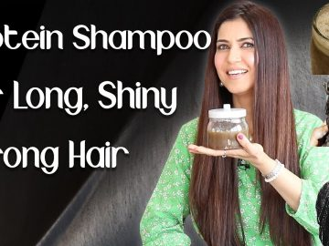 Homemade Protein Shampoo for Long Thick Shiny Hair / Chemical Free Natural Shampoo - Ghazal Siddique