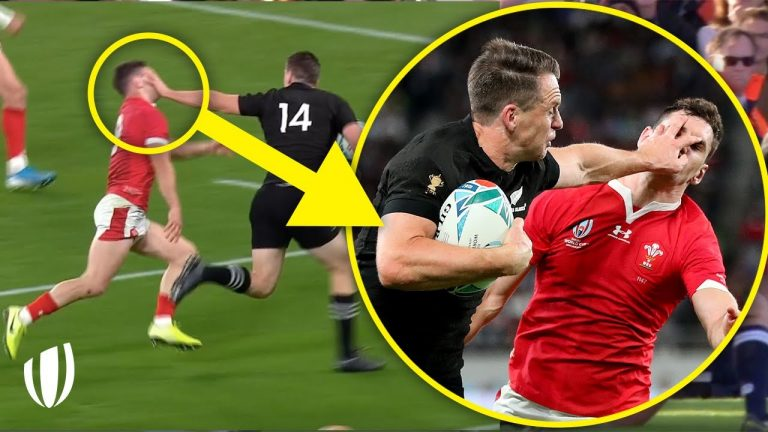 Hand meets Face!   Rugby's GREATEST Hand-Offs!