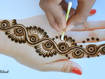 Beautiful Easy and Stylish Mehndi design back hand - Simple Henna design 2020 - New Mehndi Design 10