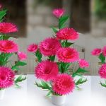 diy home decoration paper flower / art and craft with paper flower / handmade paper flower