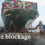 Container ship blocking the Suez Canal partially freed   DW News