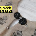 VERY EASY KEYHOLE NECK DESIGN CUTTING AND STITCHING // NEW NECK DESIGN //BEGINNERS 3