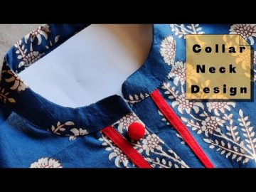 Popular Collar Neck Design with V Placket | Collar Neck Cutting and stitching(Neck Design) 9