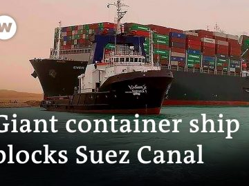 Suez Canal blocked by giant container ship run aground | DW News