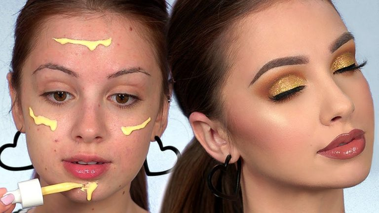 GOLD Smokey Eye Makeup Tutorial   Full Face of First Impressions