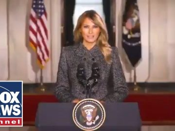 Melania Trump gives farewell address to the American people