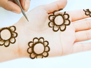 Beautiful Mehndi design for hands - Simple Mehndi design - Easy Mehendi design front hand 2020 7