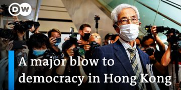 Prominent Hong Kong democracy activists convicted over protest | DW News
