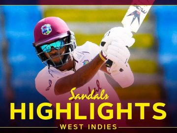 Highlights | West Indies vs Sri Lanka | Brathwaite 99* & Cornwall 43*! | 2nd Sandals Test Day 1 2021