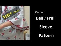 Perfect Bell / Umbrella Cut / Frill Sleeve Easy Cutting and Stitching@RR Fashion Point 24