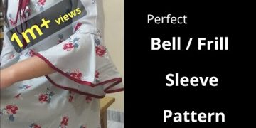 Perfect Bell / Umbrella Cut / Frill Sleeve Easy Cutting and Stitching@RR Fashion Point 2