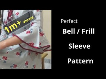 Perfect Bell / Umbrella Cut / Frill Sleeve Easy Cutting and Stitching@RR Fashion Point 1