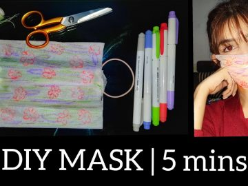 DIY MASK In 5 minutes || At Home || Recyling fiber shopping bag || Easiest Way 6