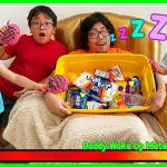 Greedy Daddy In Real Life! Pretend Play Don't Wake Daddy Challenge! 1