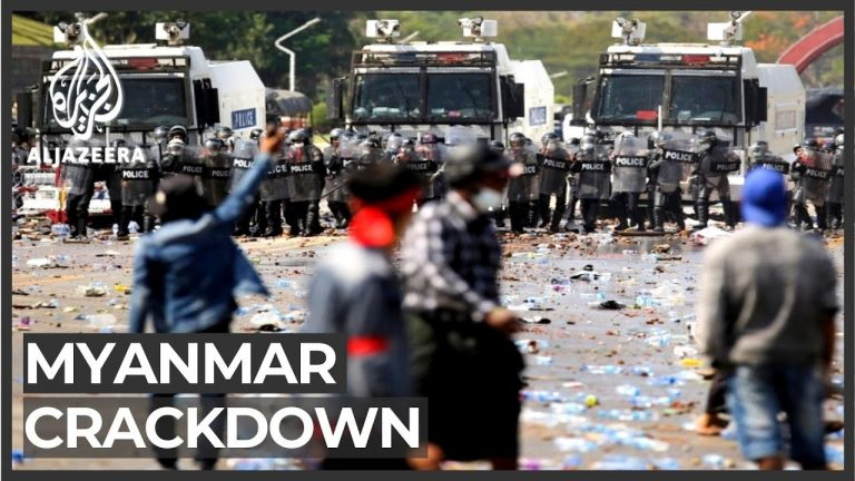 Myanmar forces fire rubber bullets, warning shots at protesters