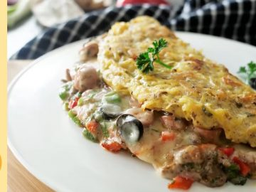 Stuffed Potato Cheburki with Sausages By Food Fusion