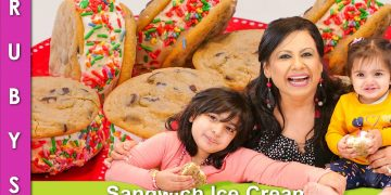 Ice Cream Sandwich Kids Will Love Recipe in Urdu Hindi - RKK