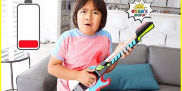 Ryan plays with DIY instruments Guitar Drums and more! 14