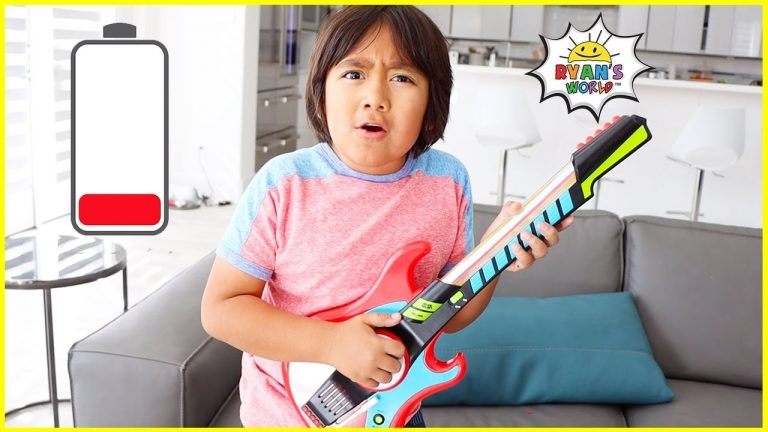 Ryan plays with DIY instruments Guitar Drums and more! 1