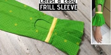 Frill Sleeve Design/ Umbrella Cut Sleeve Easy Cutting and Stitching / Sleeve Design / DIY 3
