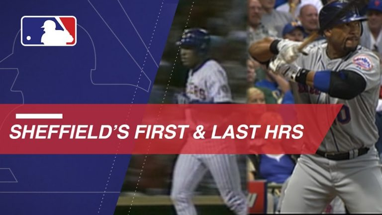 A look at Sheffield's first and last MLB home runs