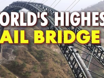 India completes world's highest rail bridge arch | WION