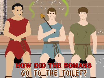 How did the Romans go to the toilet?