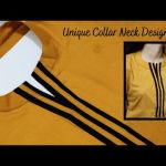 Collar Kurti Neck Design with V Placket/Unique Front NECK DESIGN Easy Cutting and Stitching 1