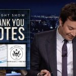 Thank You Notes: Vaccination Cards, Trump's Official Website | The Tonight Show