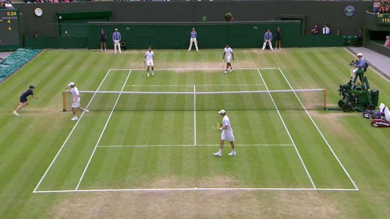 Bryan Brothers throw racket to win point