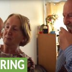 Surprise homecoming for grandparents, meet grandson for first time