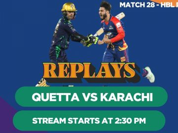 #HBLPSLReplays | Karachi Kings vs Quetta Gladiators | Match 28 | HBL PSL 4