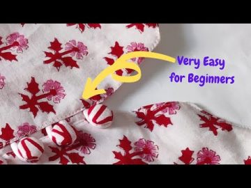 PERFECT BUTTON PLACKET MAKING IN EASY WAY 9