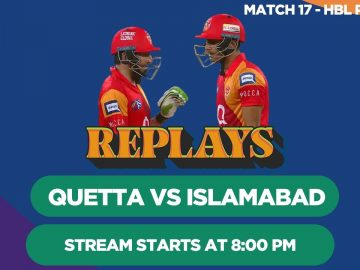 #HBLPSLReplays | Quetta Gladiators vs Islamabad United | Match 17 | HBL PSL 2