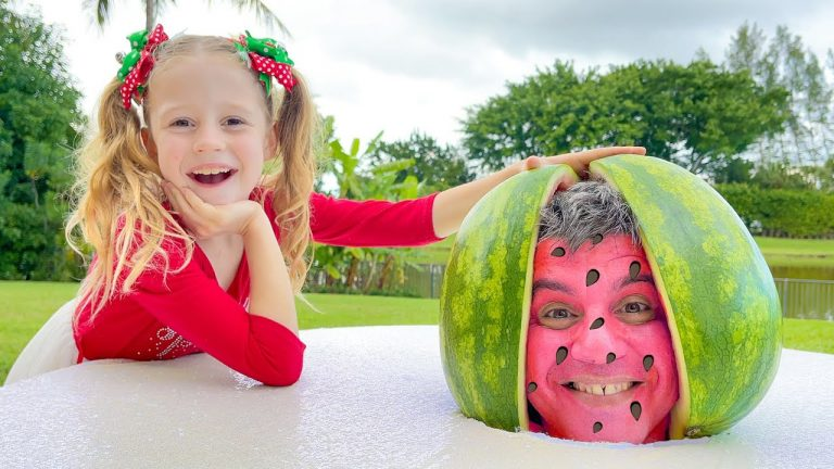 Nastya and Watermelon with a fictional story for kids 1