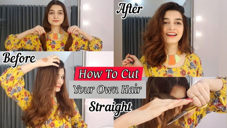 How To Cut Your Own Hair Straight || Front Layers 1