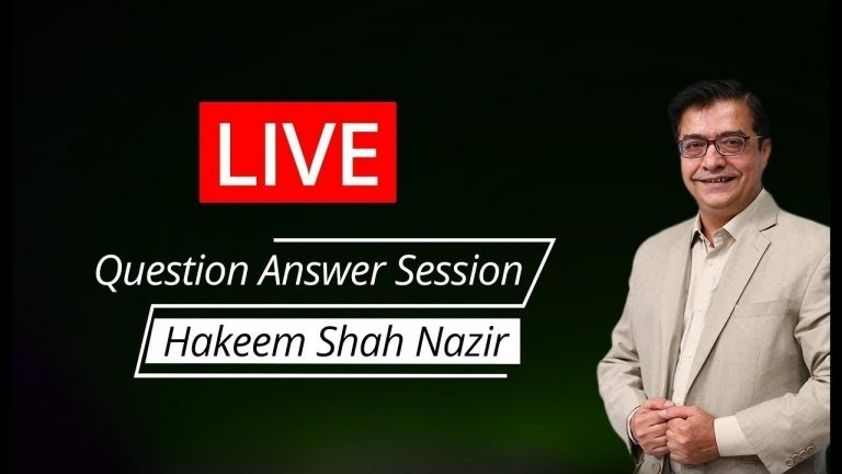 LIVE NOW For Weight Loss | Hakeem Shah Nazir