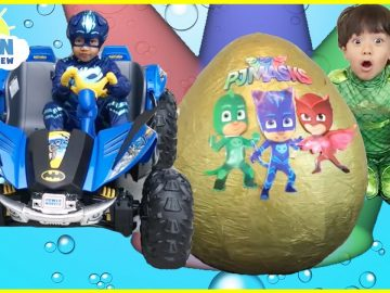 Pj Masks Toys videos Compilation for Kids! Giant Egg Surprise Headquarters Playset Catboy Gekko 9