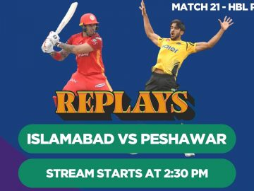 #HBLPSLReplays | Islamabad United vs Peshawar Zalmi | Match 21 | HBL PSL 4