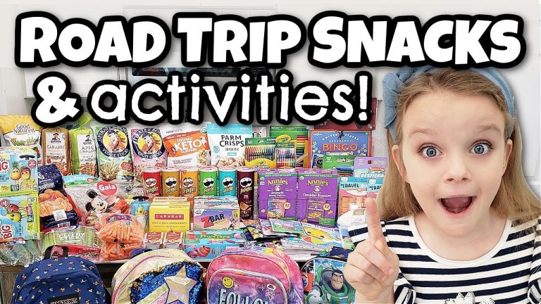 TRAVELING WITH FOUR KIDS 🚙 ROAD TRIP SNACKS AND HACKS FOR ENTERTAINING KIDS 1