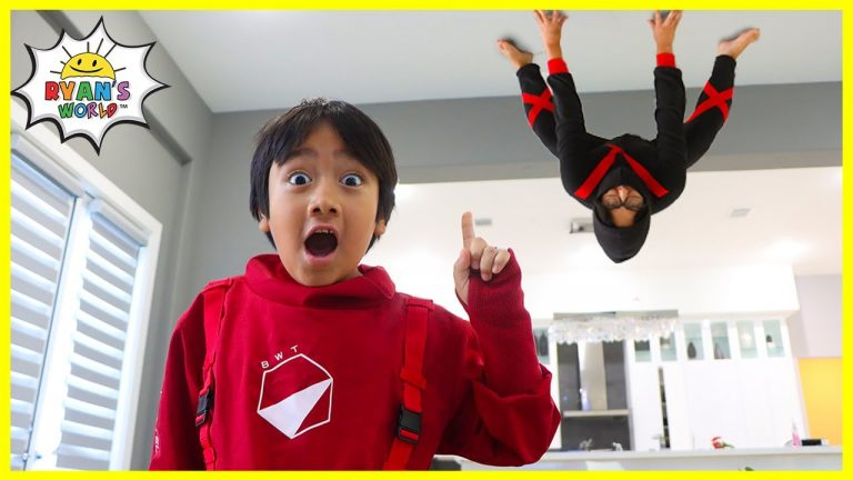 Ninja in the house!!! How to become a real Ninja with Ryan!!! 1