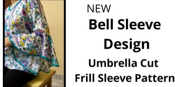 New Frill Sleeve Design/Umbrella Baju Easy cutting and stitching/High Low Sleeve Design 16
