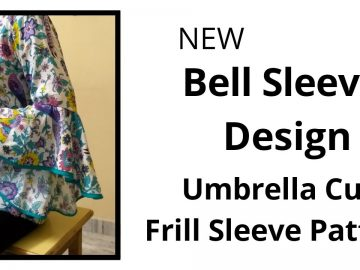 New Frill Sleeve Design/Umbrella Baju Easy cutting and stitching/High Low Sleeve Design 9