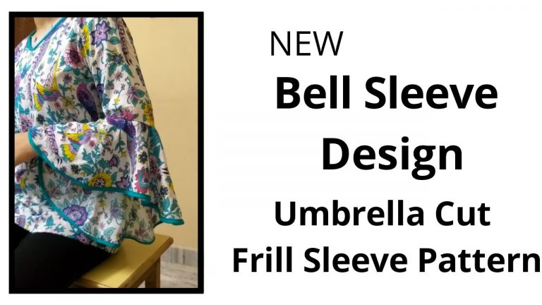 New Frill Sleeve Design/Umbrella Baju Easy cutting and stitching/High Low Sleeve Design 1